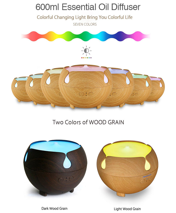 600ml essential oil diffuser