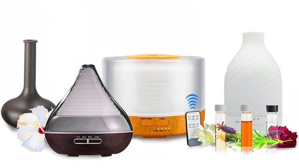 ultrasonic aroma diffusers with essential oils